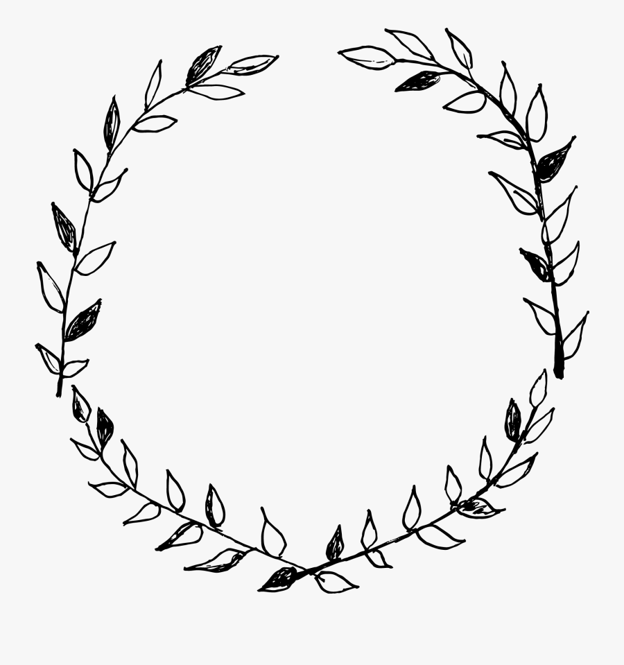 19 Advent Wreath Banner Transparent Stock Black And - Hand Drawn Wreath Png, Transparent Clipart