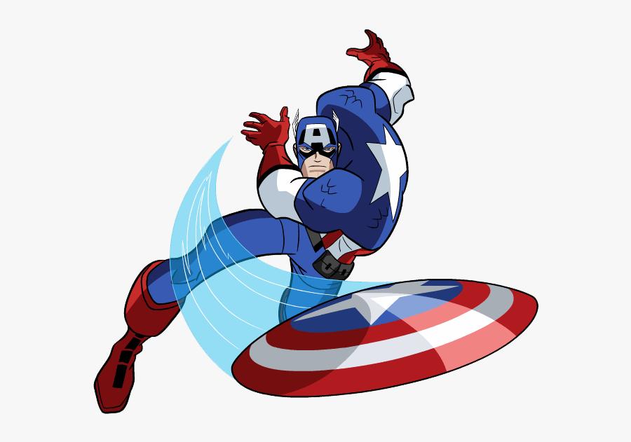 Superhero Printables - Captain America Clipart Gif, Transparent Clipart
