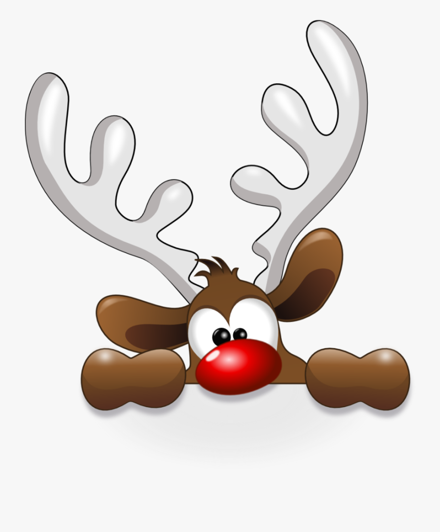 Clip Art Funny Reindeer Jpg Freeuse - Fun Cute Christmas Clipart, Transparent Clipart