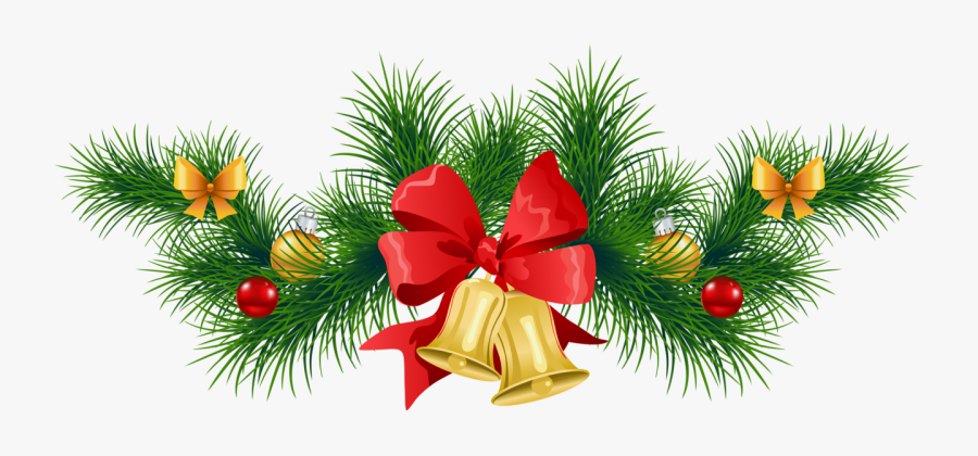 Free Christmas Clipart Transparent Background - Green Christmas Garland No Background, Transparent Clipart