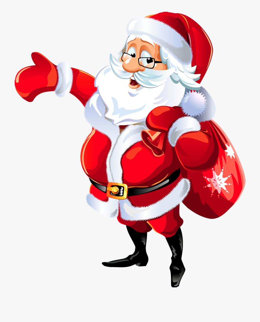 Santa Clip Art - Merry Christmas Santa Png, Transparent Clipart