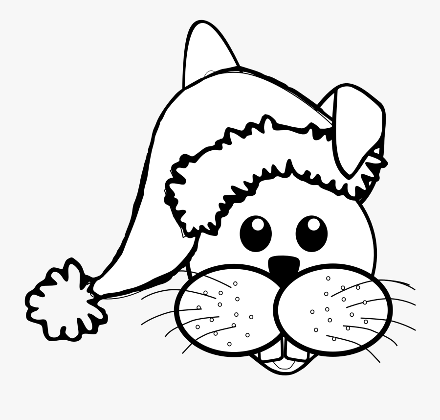 Santa Face Drawing At Getdrawings - Christmas Hat To Paste, Transparent Clipart