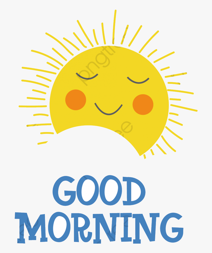 Good Morning Commercial Use Resource Upgrade To Premium - Circle, Transparent Clipart