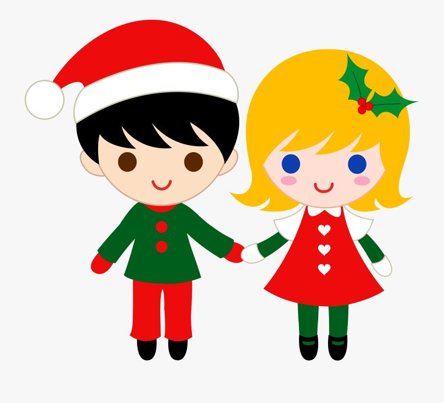 Clipart Children Christmas, Transparent Clipart