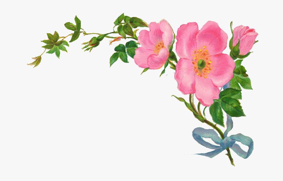 Vintage Flowers Clipart - Vintage Flower Border Png Transparent, Transparent Clipart