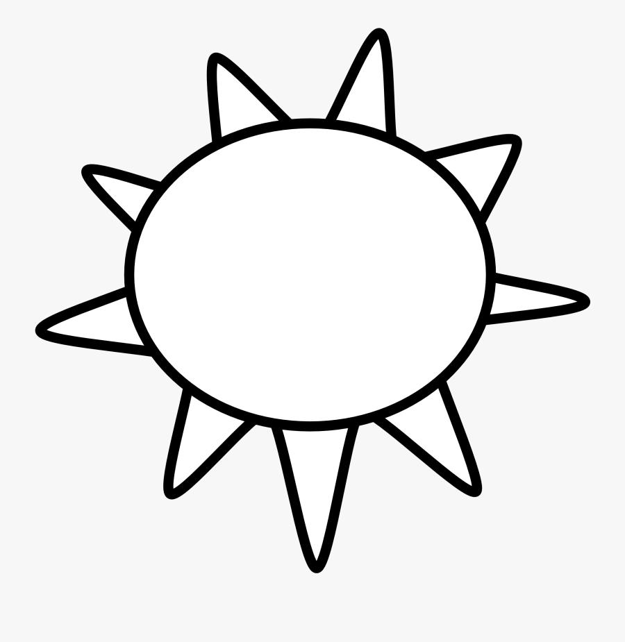 Sun - Clip - Art - Black - And - White - Sun Black And White, Transparent Clipart