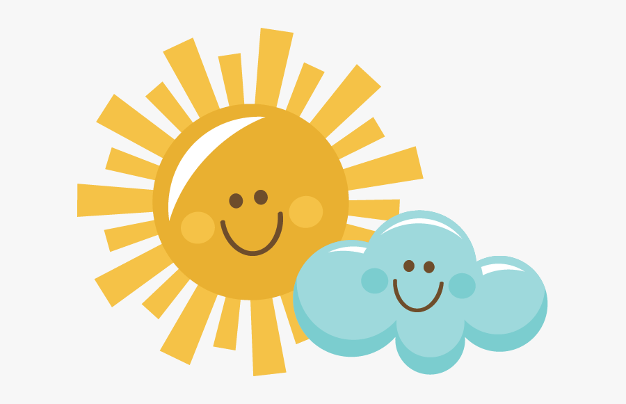 Happy Sun And Cloud - Sun And Clouds Clipart, Transparent Clipart