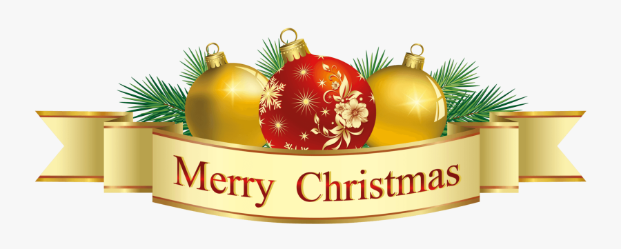 Transparent Background Merry Christmas Clipart, Transparent Clipart