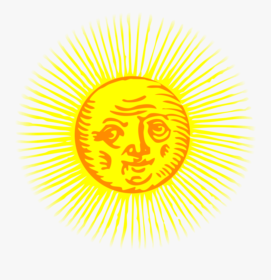 Sunshine Clipart Library - Old Drawing Of Sun, Transparent Clipart