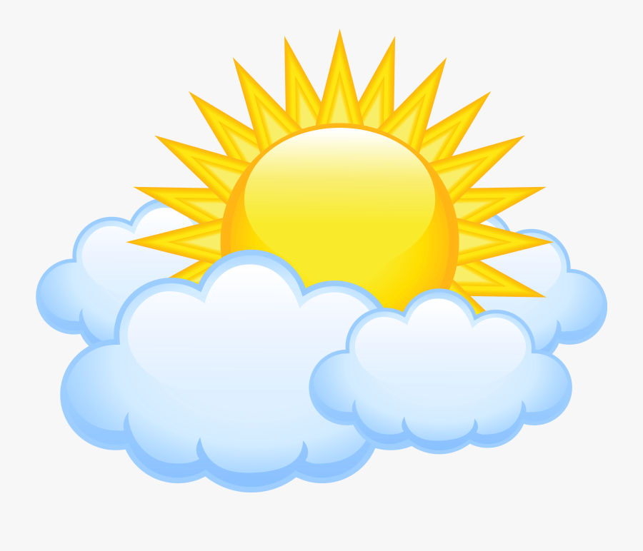 Sun Clipart High Resolution - Sun And Clouds Transparent, Transparent Clipart
