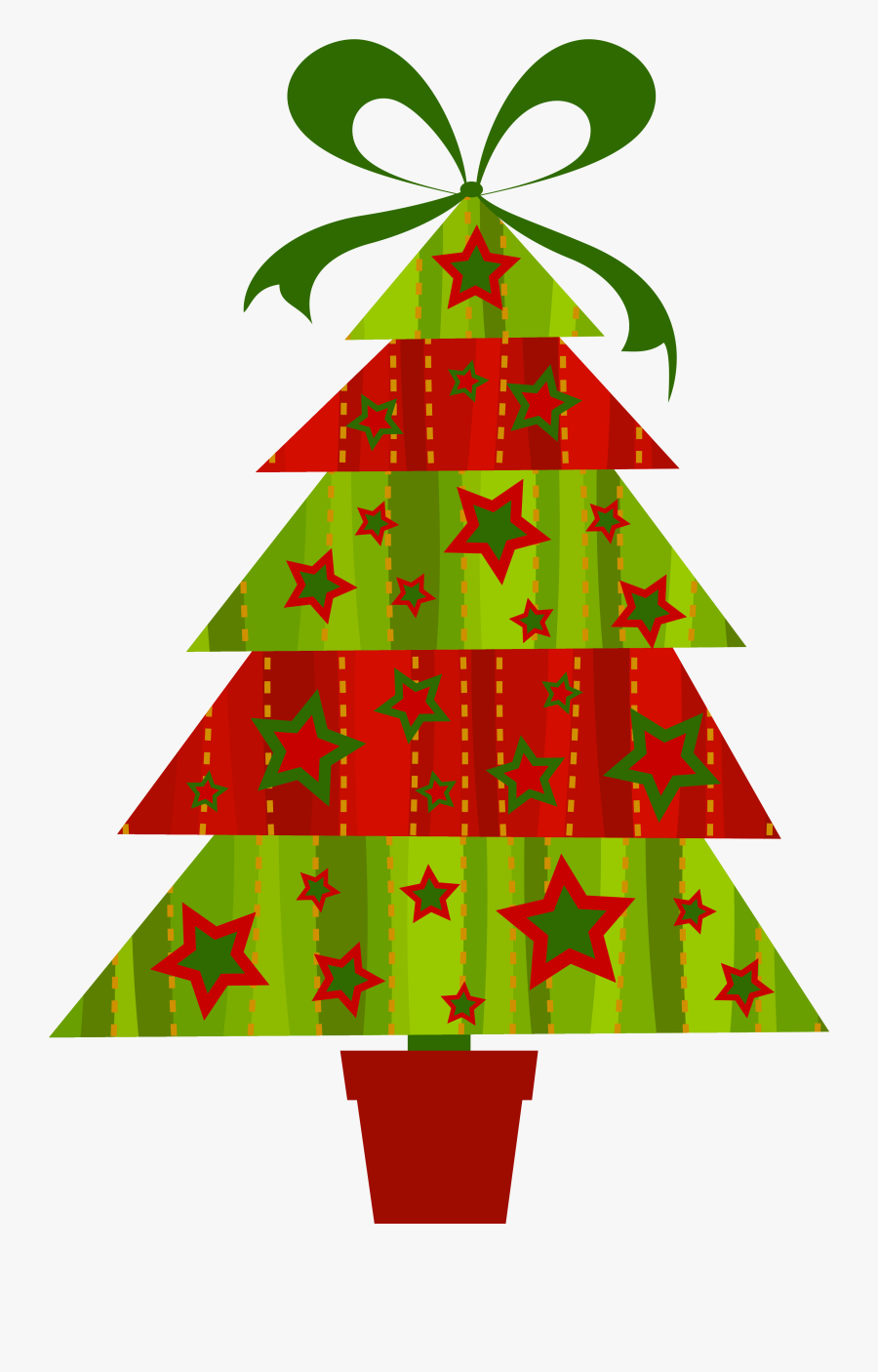 Free Christmas Tree Clipart Public Domain Christmas - Contemporary Christmas Tree Graphic, Transparent Clipart