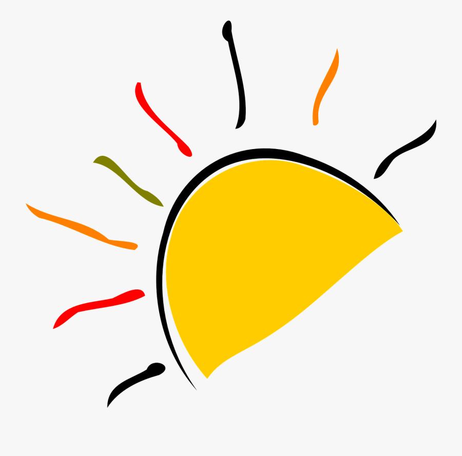 Good Evening Clipart Sun Ray - Half Sun Transparent, Transparent Clipart