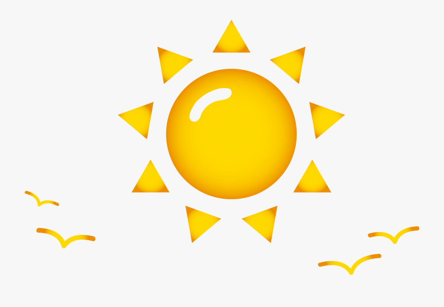 Cartoon Geometry Clip Art Sun Pattern Transprent Ⓒ - Sun With Geometric Shapes, Transparent Clipart