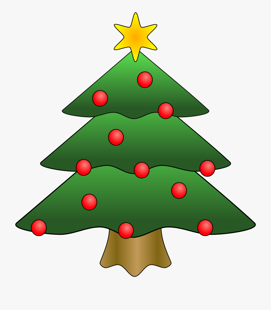 Christmas - Clipart - Christmas Tree Clipart, Transparent Clipart