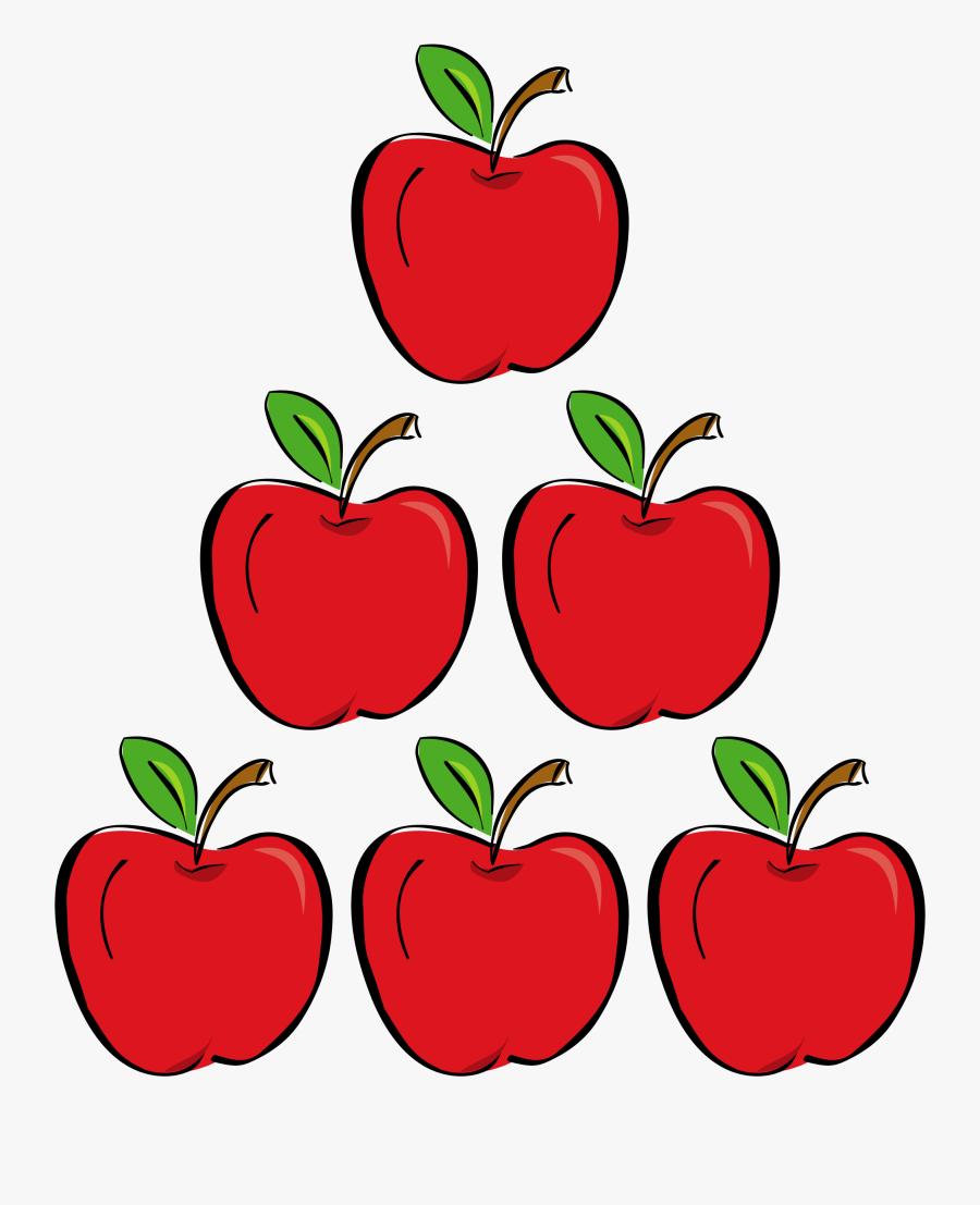Apple Png Clipart -apple Clipart Six - 5 Apples Clip Art, Transparent Clipart