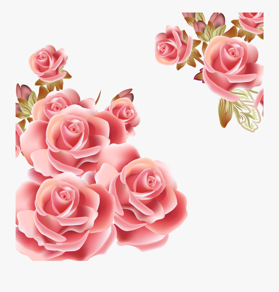 Peach Flower Clipart Vector - Rose Gold Flowers Png, Transparent Clipart