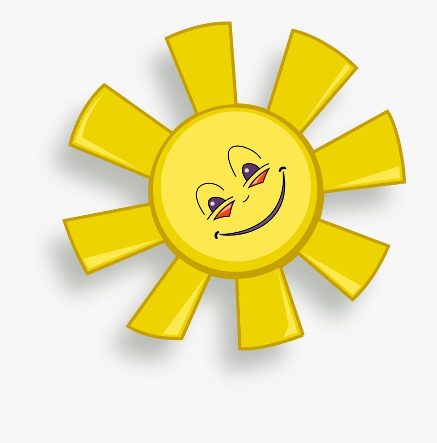 Happy Sun Clipart Free - Happy Sun Gif Transparent, Transparent Clipart