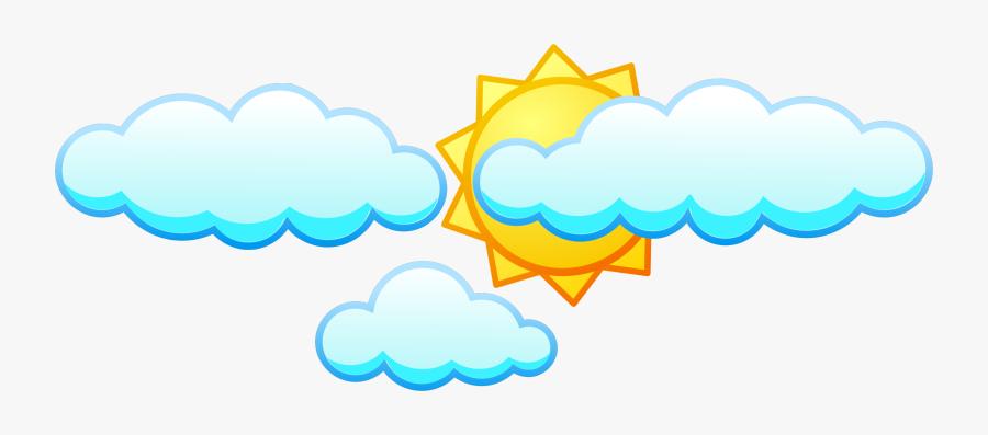 Cloud Clipart Sunshine - Clouds And Sun Clipart, Transparent Clipart