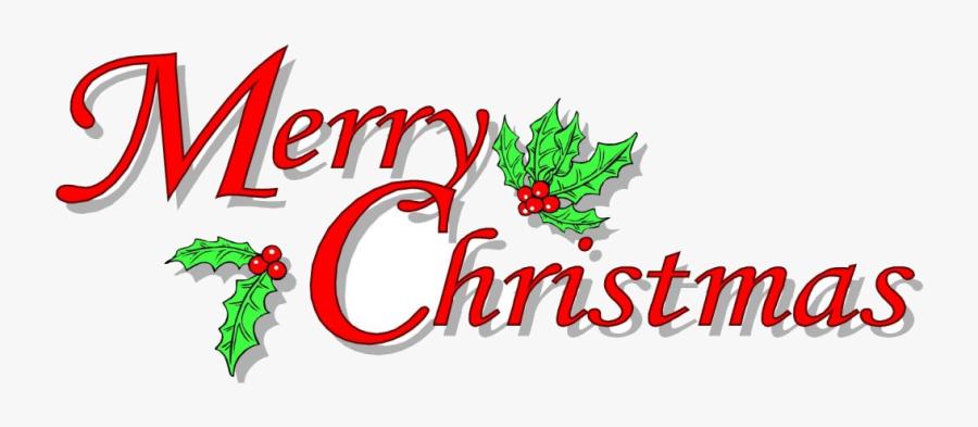 Christmas Merry Christmas Clip Art Merry Christmas - Merry Christmas No Background, Transparent Clipart