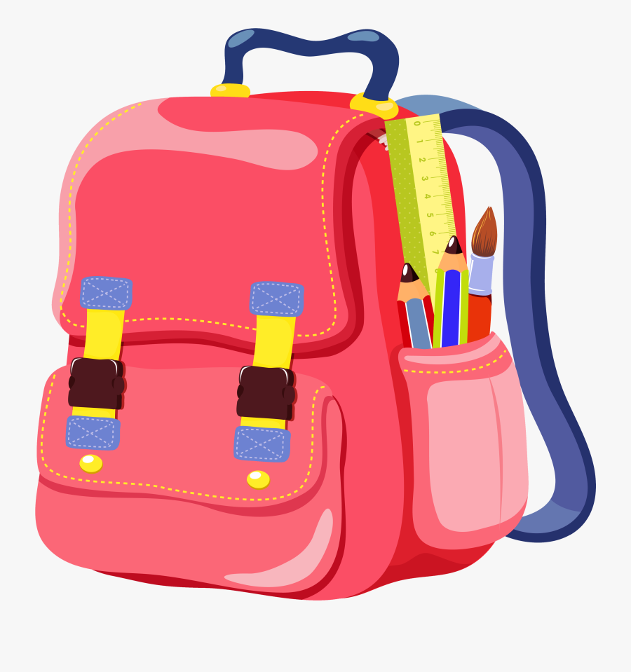 School Clipart School Backpack Clipart Cliparts And - Transparent Background Backpack Clipart, Transparent Clipart