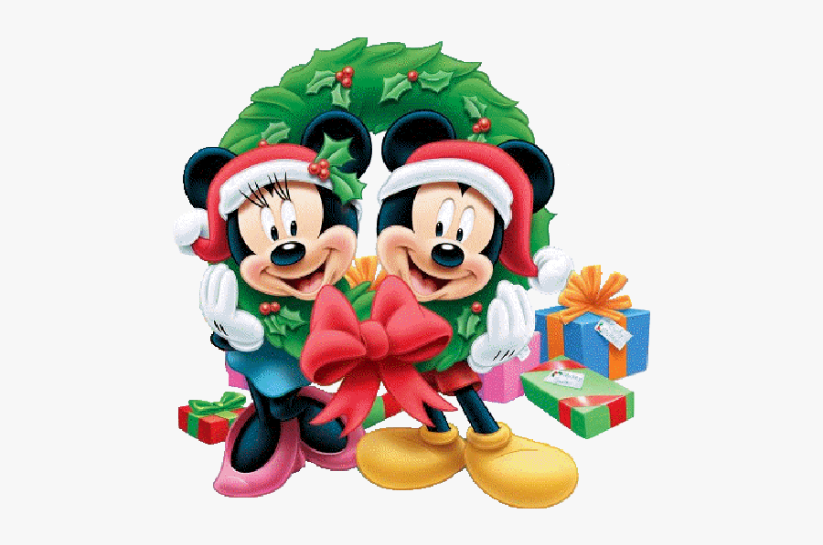 Mickey Mouse Characters Christmas, Transparent Clipart