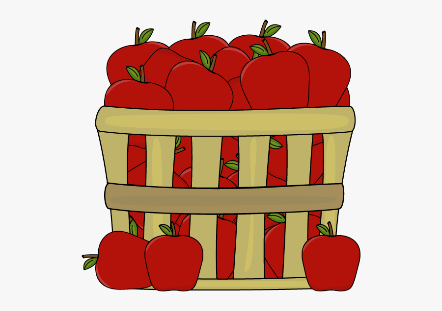 Clipart Of Few, Apple And Baskets - Apples In A Basket Clipart, Transparent Clipart