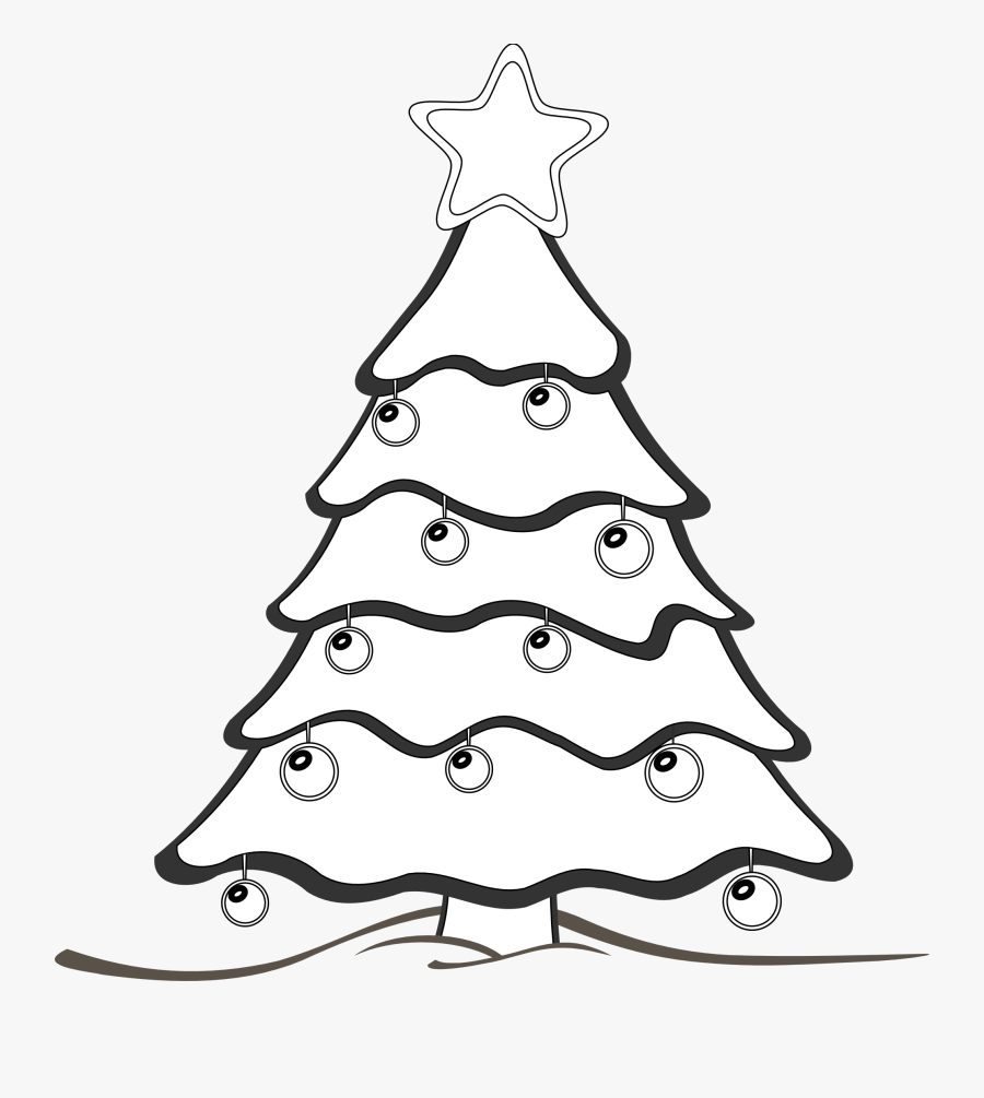 Clip Art Black And White Clipart Christmas Tree - X Max Tree Clipart Black And White, Transparent Clipart