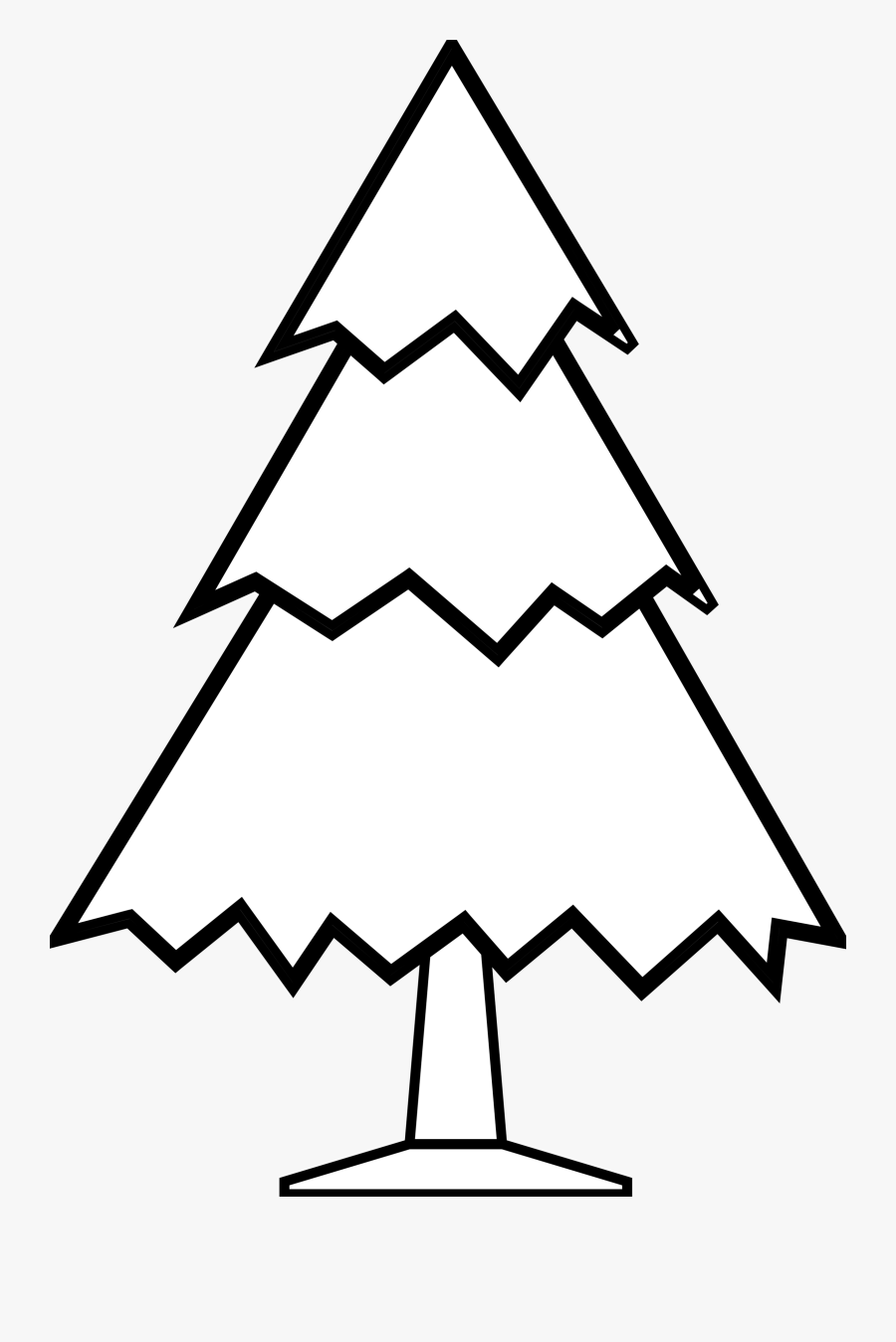 Christmas Tree Black And White Christmas Tree Clipart - Simple Line Drawing Of A Tree, Transparent Clipart