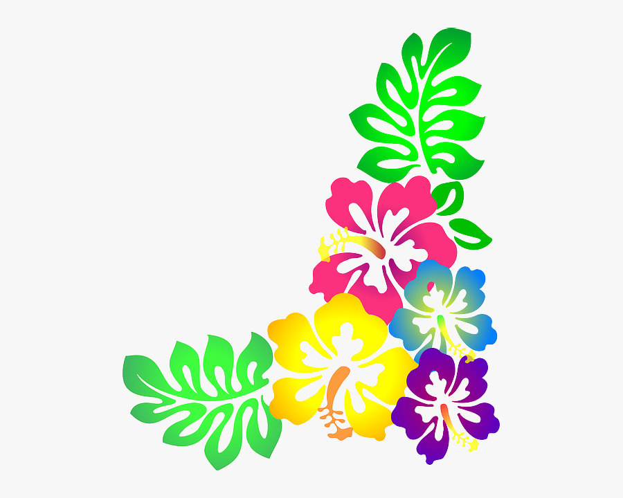 Colorful Clipart Free Download - Hawaiian Flower Images Clipart, Transparent Clipart