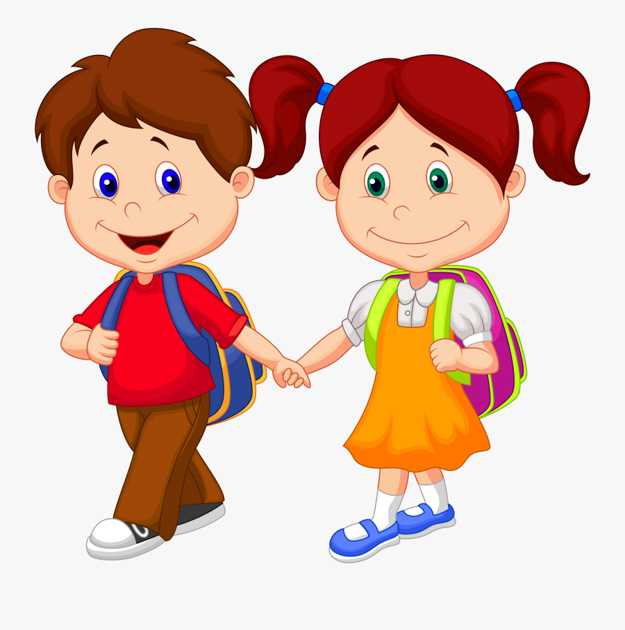Kids Going To School Clipart - School Children Clipart Png , Free ...