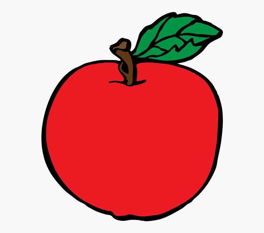 Fruit Clipart Coloring Pages - Apple Fruit Clipart, Transparent Clipart