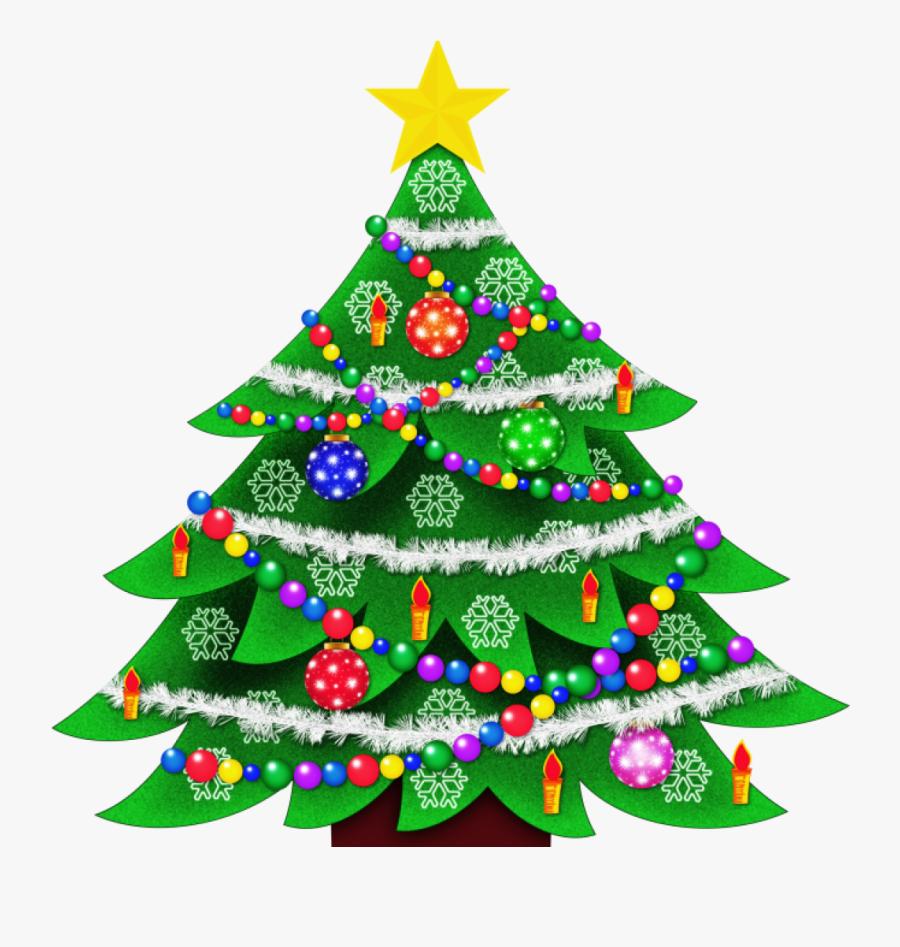 Clip Art Christmas Tree, Transparent Clipart