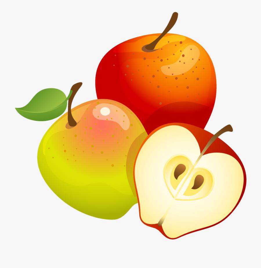 Clipart Background X - Apple Fruit Clip Art, Transparent Clipart