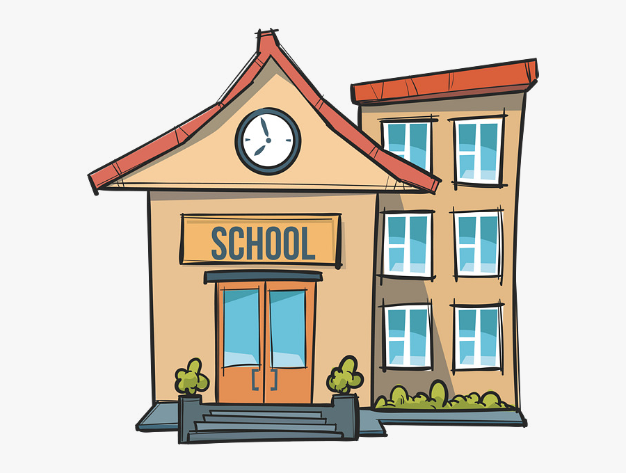 School Clipart Images In Collection Page Transparent - School Building Cartoon School Clipart, Transparent Clipart
