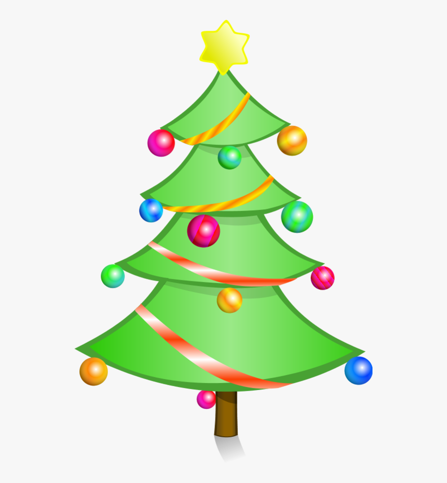 Christmas Tree Clipart Free Holiday Graphics - Clipart Simple Christmas Tree, Transparent Clipart