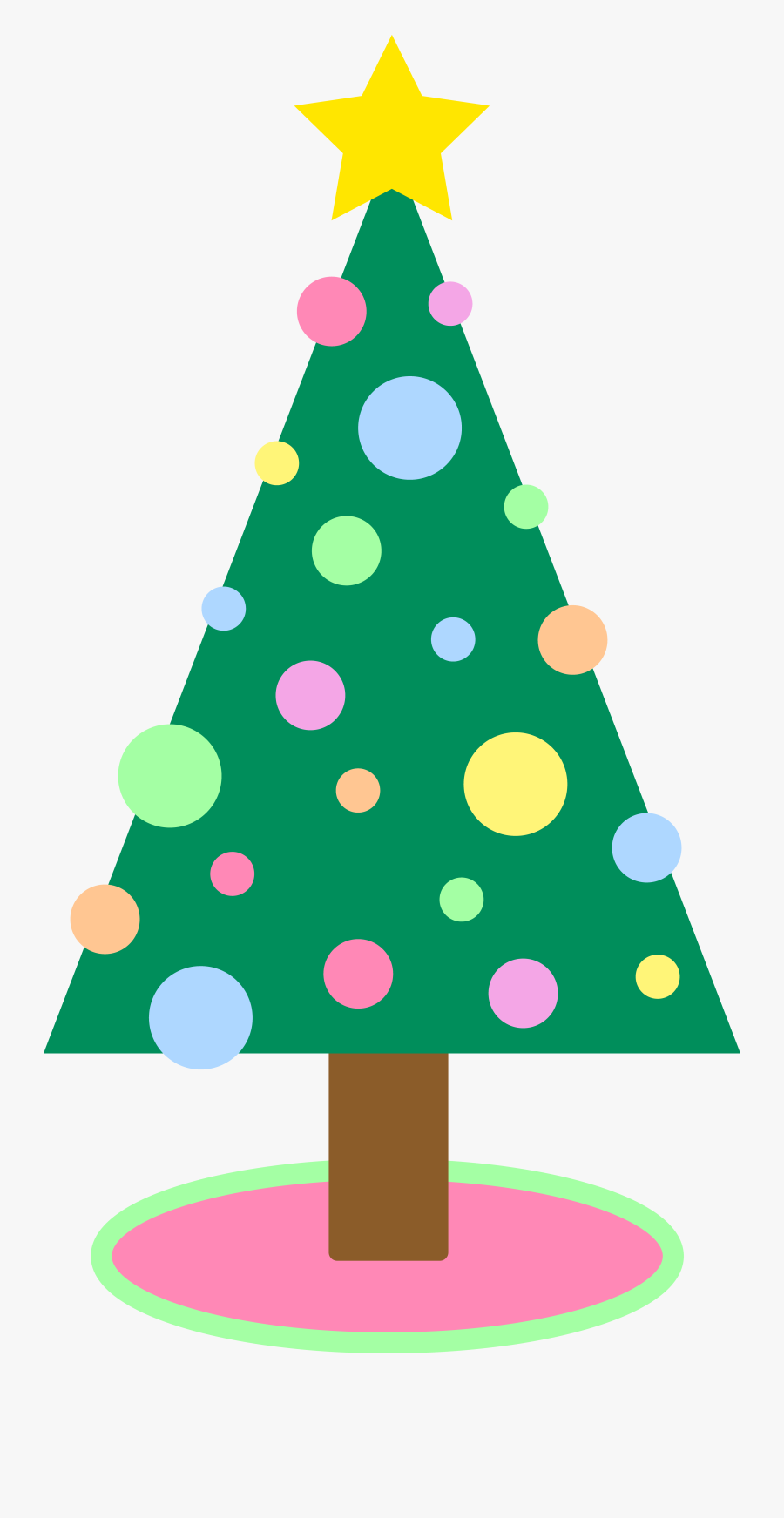 Free Christmas Tree Clipart Public Domain Clip Art - Simple Christmas Tree Cartoon, Transparent Clipart