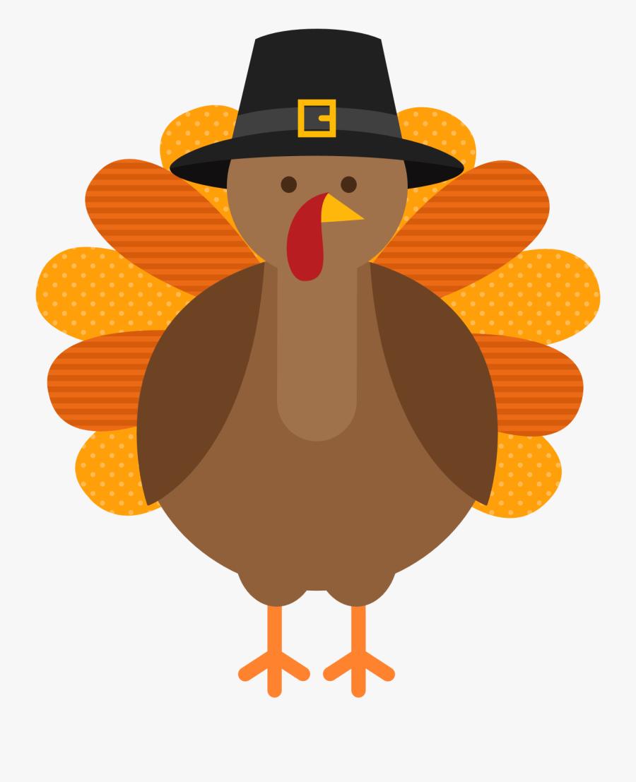 Free Cartoon Turkey Clipart - Transparent Background Thanksgiving Clipart, Transparent Clipart