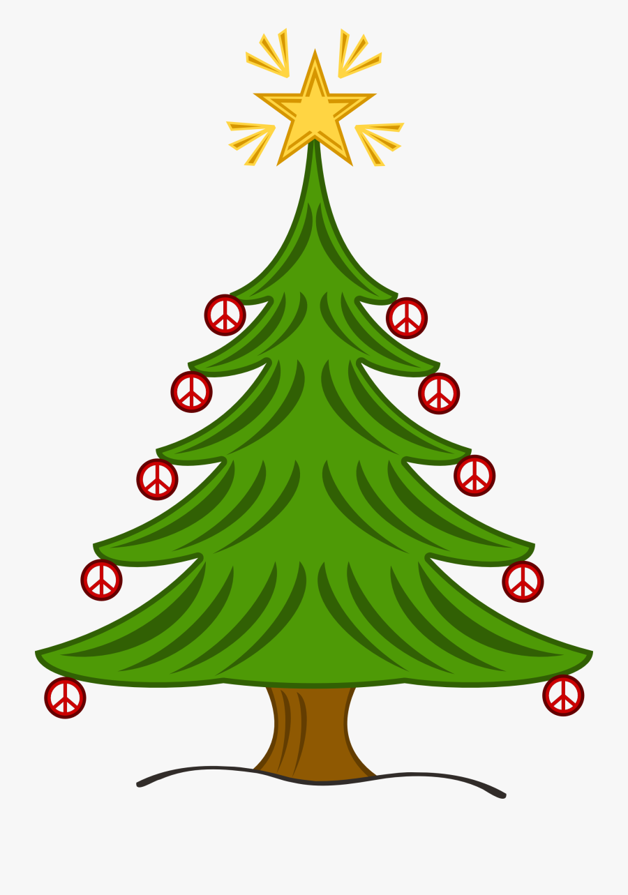 Christmas Tree Clipart Black And White - Free Christmas Tree, Transparent Clipart