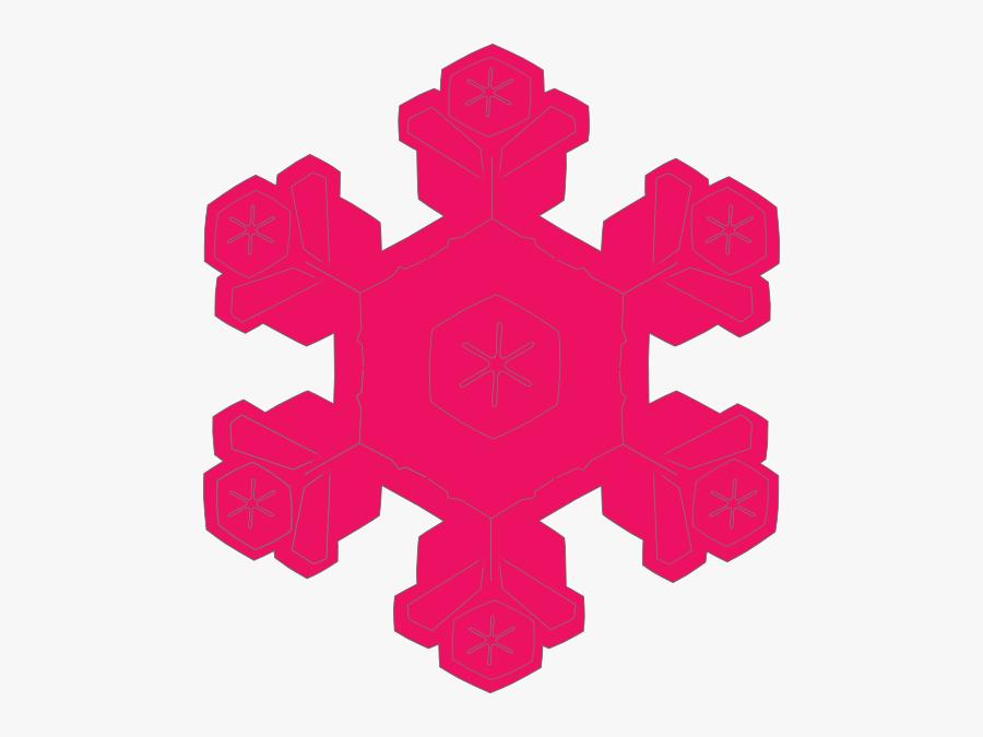 Pink Snowflake Clip Art, Transparent Clipart