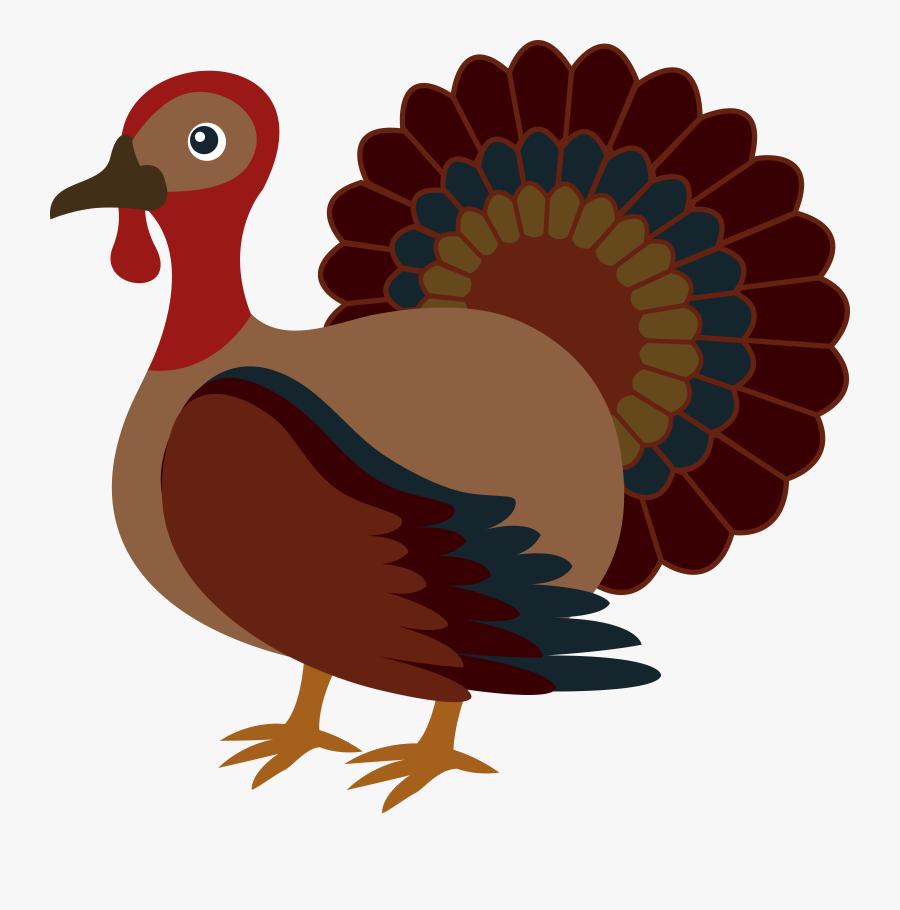 Cute Thanksgiving Turkey Free Clip Art Png - Clipart Thanksgiving Turkey, Transparent Clipart