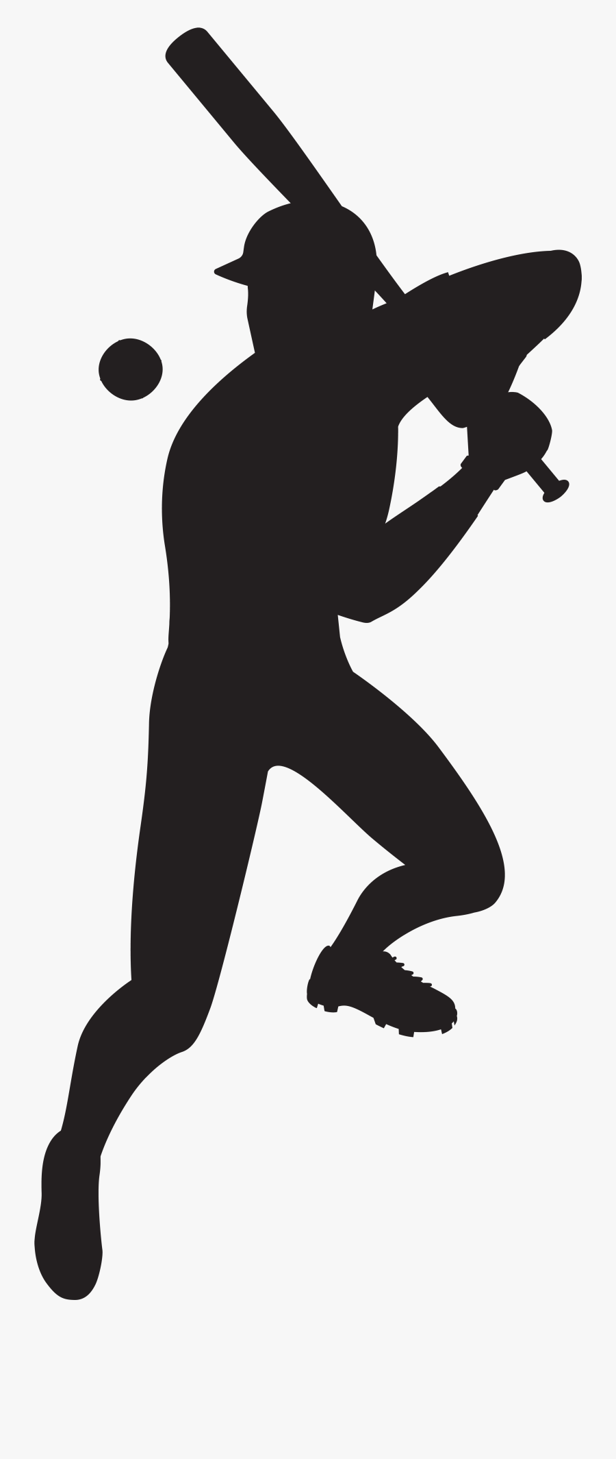 Clip Art Player Black And White - Baseball Player Silhouette Png, Transparent Clipart