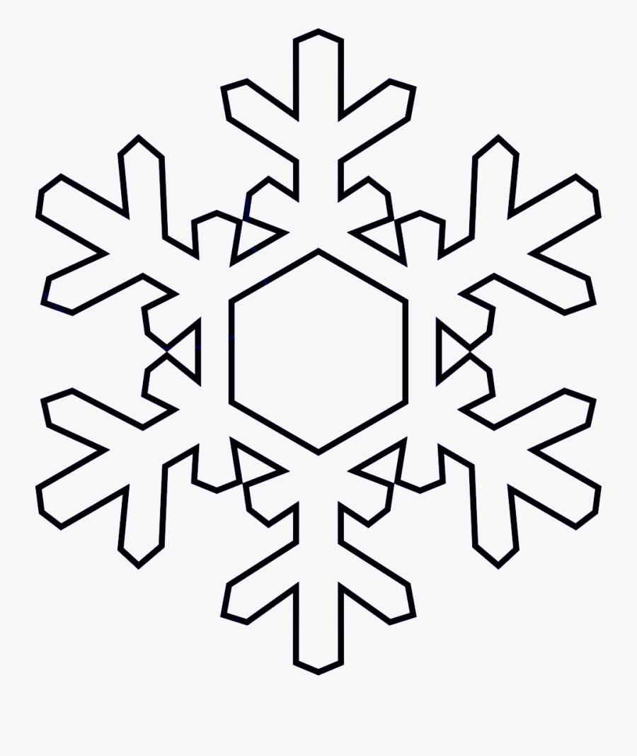 Transparent Black Snowflake Png - Snowflake Shape Transparent Background, Transparent Clipart