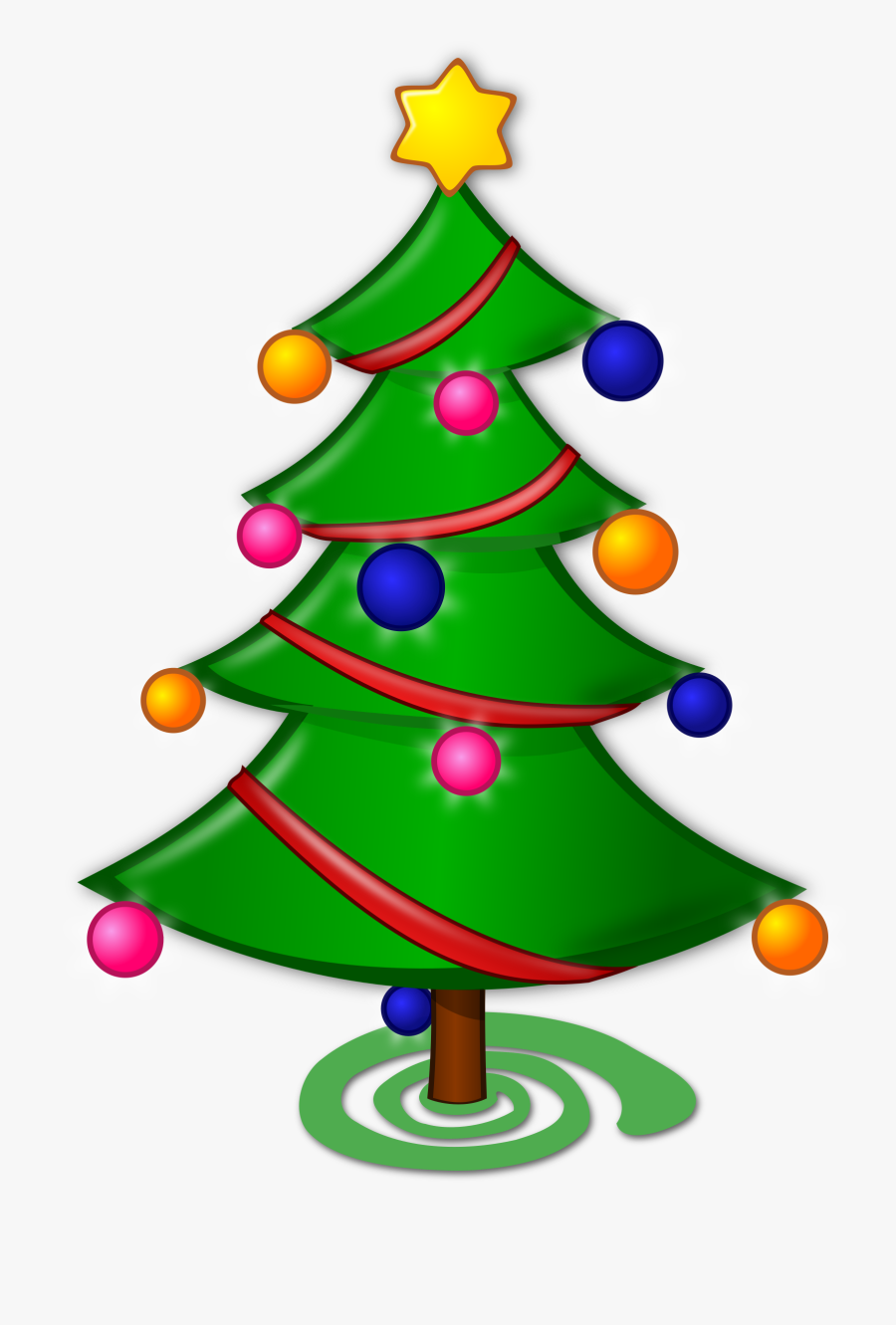 Christmas Tree Clipart - Merry Christmas Tree Drawing, Transparent Clipart
