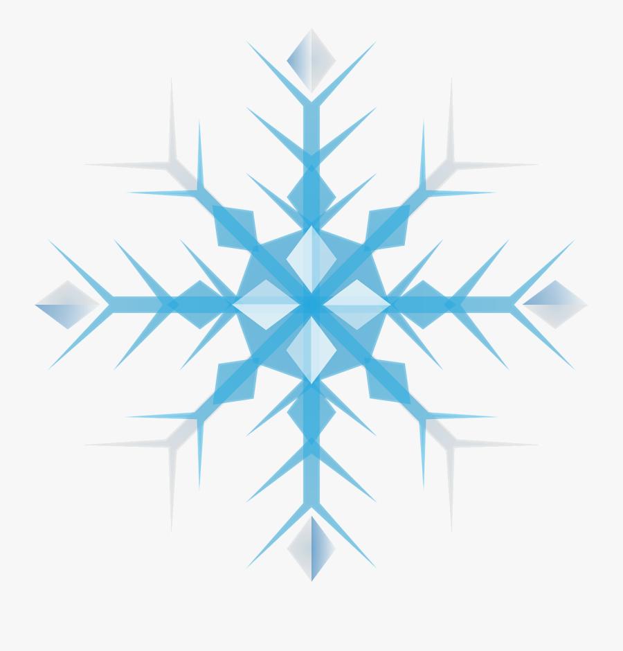 Free To Use &amp, Public Domain Snowflakes Clip Art - Blue Snow Flake Clip Art, Transparent Clipart