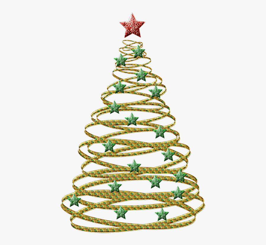 Abstract Christmas Tree Outline Free Transparent Clipart
