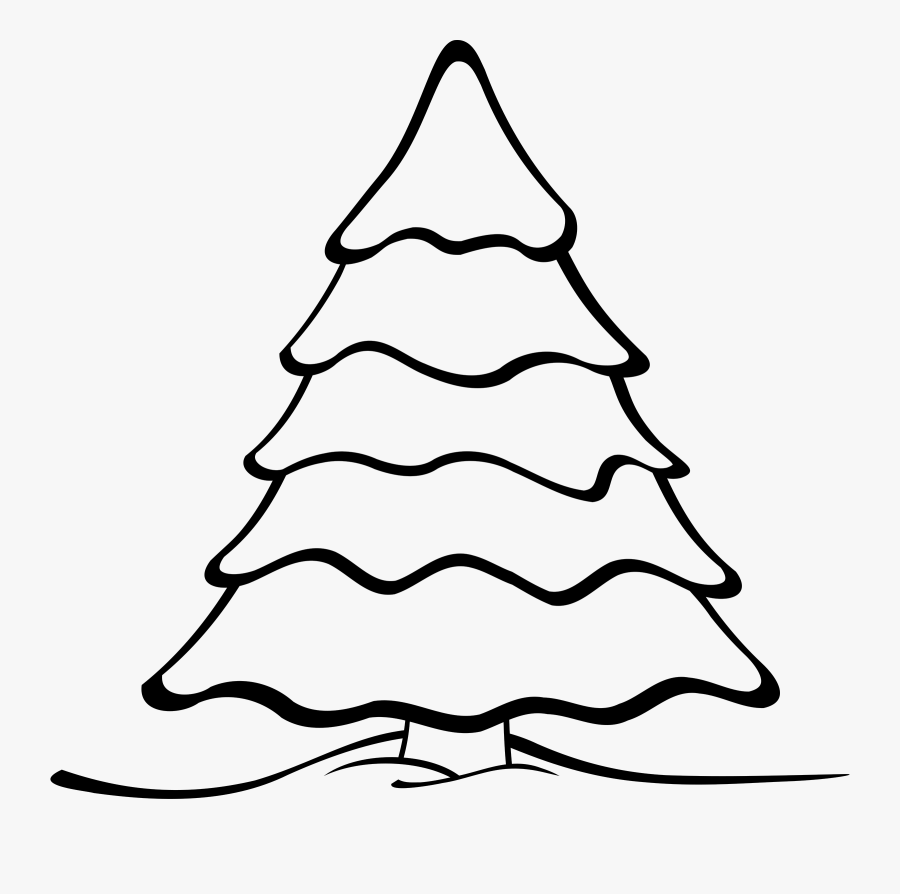 Christmas Tree With Presents Clip Art Find Craft Ideas - Christmas Tree Black And White Clipart, Transparent Clipart