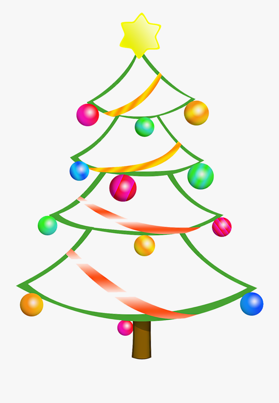 Christmas Tree Clipart Top Border - Christmas Tree Free Clipart, Transparent Clipart