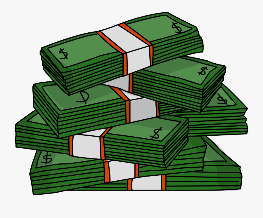 Big Money Clipart - Money Stack Clip Art, Transparent Clipart