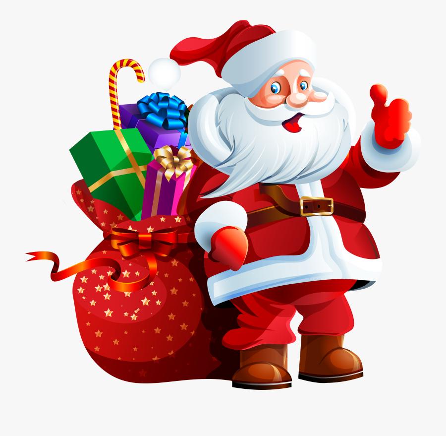 Freeuse Download Claus With Big Bag - Christmas Santa Claus Png, Transparent Clipart