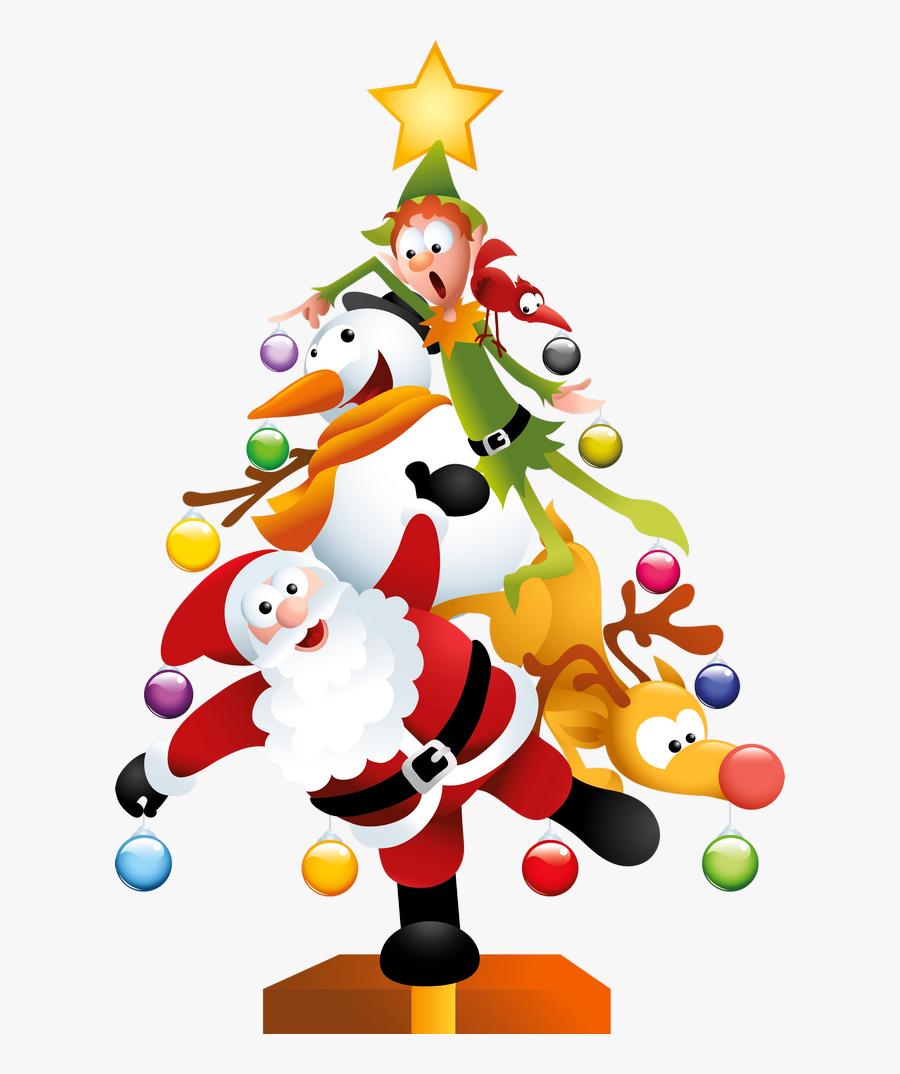 Transparent Christmas Tree Clip Art Png - Funny Christmas Tree Clipart, Transparent Clipart